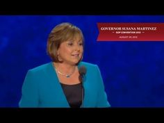 New Mexico Governor Susana Martinez addresses the 2012 Republican National Convention.  Martinez was working for her family-owned small business when she carried a handgun to defend a place of worship--along with her father the Marine vet.