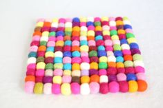 Love this wool ball trivet.