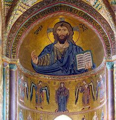 mosaic in the apse of the Duomo, Cefalù