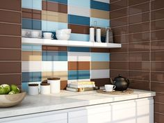 Another interesting colour combo. Loft tiles by Ape Ceramica. Wall And Floor Tiles, Wall Tiles, Metro Tiles Kitchen, Subway Tile Patterns, Brick Tiles, Style Tile, Metroid, Apartment Interior, Lofts