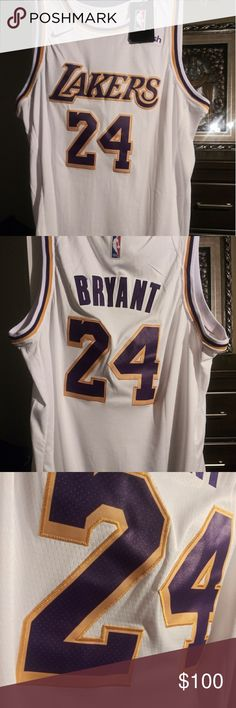 Kobe Bryant  24 Jersey XL NBA 100% authentic stiched numbers. kobe bryant   84d43d5ee