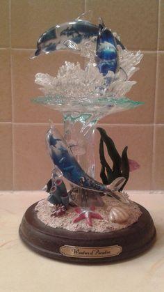 Bradford Exchange Wonders Of Paradise Rainbow Sea Dolphins Figurine #BradfordExchange