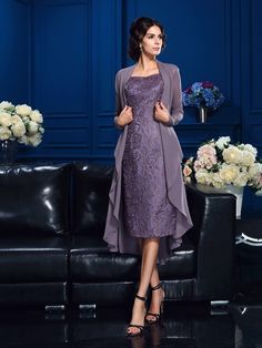 Shop high quality sheath sweetheart tea-length lace mother of the bride dresses with cape online. Custom-made any size or color. Pro since 2009.