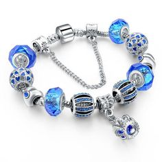 $15.99 Blue Crown Charm Bracelet