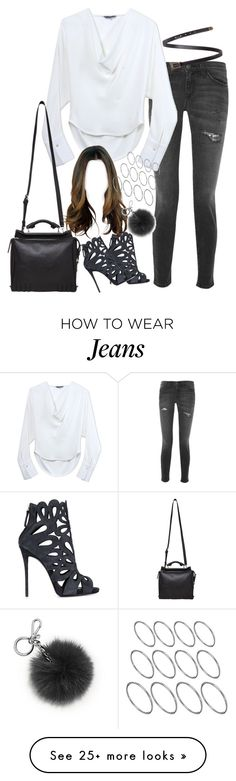 """Untitled#3732"" by fashionnfacts on Polyvore featuring Current/Elliott, Maiyet, Yves Saint Laurent, Giuseppe Zanotti, 3.1 Phillip Lim, ASOS and Michael Kors"