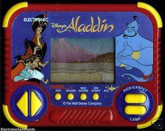 1990s Tiger Disney Aladdin Electronic Handheld Classic Arcade LCD Toy Video Game 90s kid, 1990s toys, rememb, childhood memori, video games, tigers, 80s90s nostalgia, disney, aladdin