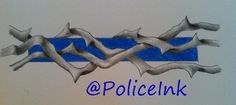 "Police Ink on Twitter: ""Thin Blue Line tattoos are embellished so ..."