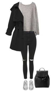 """Street style"" by amywv ❤ liked on Polyvore featuring Topshop, adidas and MANGO"