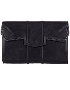 Reece Hudson A black leather envelope clutch from the designer's Spring 2012 collection.