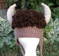 Ravelry: Ta Tonka Buffalo Hat pattern by Heidi Yates a must for next bonfire night!