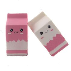Squishy Pink Milk Box Bottle 12cm Slow Rising Collection Gift Decor Soft Toy