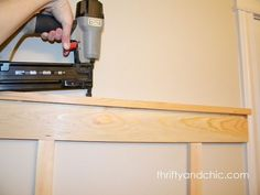 DIY Board and Batten -This bathroom was done for only $11!  Very VERY nicely done..bravo..