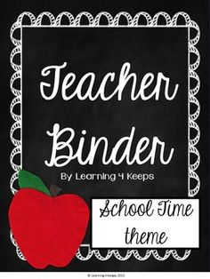 ****UPDATED: 2016-2017 Calendars*****This pack includes 100 pages of covers, lists, forms, and charts for the creation of your own teacher binder! This is a great way to get organized in a cute Back to School theme. This pack will be updated each year so buy it once, redownload an updated pack each year in the future!{Please be sure to download the preview to see a close-up of what is included.}** UPDATE: This pack is now a zip file that includes the original pack, meant to print and write…