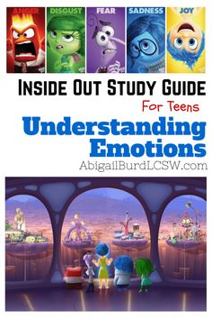Out Study Guide for Teens: Understanding Emotions from Abigail Burd, LCSW. -Inside Out Study Guide for Teens: Understanding Emotions from Abigail Burd, LCSW. - FREE Printables and Activities on Feelings and Emotions Emotions Activities, Counseling Activities, Art Therapy Activities, Therapy Ideas, Therapy Tools, Play Therapy, School Counseling, Group Activities For Teens, Grief Activities