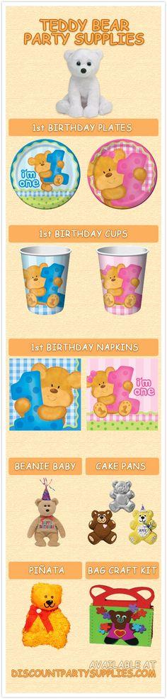 7 Cuddly Teddy Bear Party Supplies