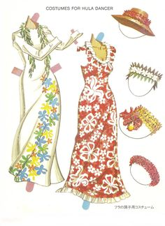 1984. TAHITIAN and HAWAIIAN DANCERS Paper Doll Book by Bernard Atkins for Great Creations. Printed in Hawaii. 3 of 6