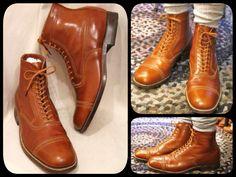 20's E.T.Wright cap toe dress boots