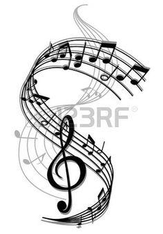 Abstrakte Kunst Hintergrund Musik mit Noten f r Unterhaltung Design Lizenzfreie Bilder