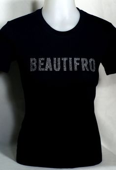 Beautifro Natural Hair Rhinestone Shirt