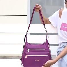 Waterproof Double-sided Multifunctional Shoulder Bag Backpack – Purses And Handbags Totes Popular Handbags, Cute Handbags, Cheap Handbags, Purses And Handbags, Leather Handbags, Luxury Handbags, Luxury Bags, Celine Handbags, Fabric Handbags