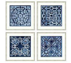 Indigo Ikat Framed Print, Oasis, 22 x at Pottery Barn - Modern French Cottage Garden, Free Interior Design, Home Interior, Wall Art Prints, Framed Prints, Framed Art, Canvas Prints, Landscape Plans, Landscape Designs