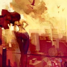 Alive For Art Inspiration | Artist interview w/pics! Patricio Betteo is an internationally-acclaimed illustrator...Female Watching Distant Smoke