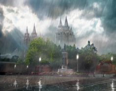 Salt Lake Temple - Refuge from the Storm