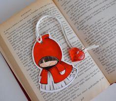 Little Red Riding Hood Bookmark Little Red Ridding Hood, Red Riding Hood, Projects For Kids, Craft Projects, Book Crafts, Diy Crafts, Broken Book, Paper Bookmarks, Halloween Scrapbook