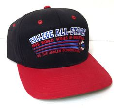 new vtg 1999 COLLEGE ALL STARS BASKETBALL SNAPBACK HAT Harlem Globetrotters  Mens  Yupoong  BaseballCap 9755732acf97