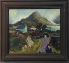 Gill Watkiss,Clay Pools Cottage, Medium,Oil on Canvas, size 13 x 11 Canvas Size, Oil On Canvas, Pools, Modern Art, Clay, Cottage, Paintings, Medium, Artist