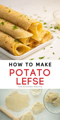 How to make potato lefse, a Norwegian flatbread recipe that is similar to a crepe but uses up mashed potatoes! Have them with butter or jam if desired. Make Ahead Mashed Potatoes, How To Make Potatoes, Best Pasta Recipes, Great Recipes, Favorite Recipes, Easy Recipes, Brunch Recipes, Appetizer Recipes, Breakfast Recipes
