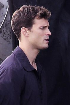 Jamie Dornan on set of Fifty Shades of Grey in Vancouver - 14 Oct 2014