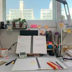 Study Room Decor, Study Rooms, Study Areas, Study Space, Study Desk, Desk Space, Study Corner, Desk Inspiration, Study Organization