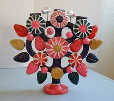 Mexican Pottery - Tree of Life Candelabra