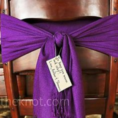 Colorful Pashmina Wedding Favors
