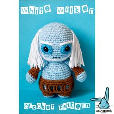 White Walker doll with removable skirt. Game of Thrones inspired character. .PDF…