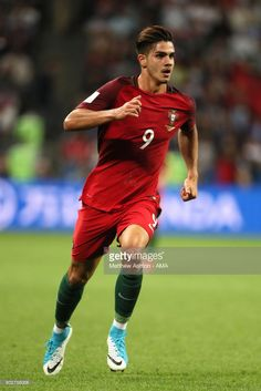 Andre Silva of Portugal in action during the FIFA Confederations Cup Russia 2017 Semi-Final match between Portugal and Chile at Kazan Arena on June 28, 2017 in Kazan, Russia.