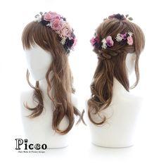 . . Gallery 262 . Order Made Works Original Hair Accessory for WEDDING . #ピンク × #ブラック の #ローズ をメインに #かすみ草 & 小花 をつなげて #花冠 ふうに仕上げた #エレガント スタイル  #キュート さの中に #クール な印象 をもった #大人可愛い 雰囲気に  . . #結婚式  #ドレス #髪飾り #オーダーメイド #挙式 #花嫁 #ウェディング #ブライダル . #花飾り #造花 #ヘアセット #ヘアアレンジ #ハーフアップ . #hairdo #flower #hairaccessory #picco #bridal #hairarrange  #dress #wedding . . .