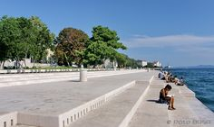 Zadar, Croatia. The sea organ steps sing every time the waves hit the pipes.