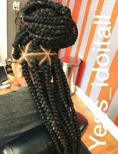 Triangle part box braids @GottaLoveDesss