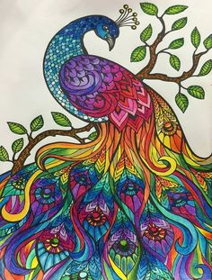 23 Ideas for Adult Coloring Pages Finished .ColorIt makes superior quality adult coloring publications that will certainly thrill the detects and also loosen up the mind. These coloring books allow … Peacock Coloring Pages, Adult Coloring Pages, Coloring Books, Colouring, Free Coloring, Mandala Art, Mandalas Drawing, Zentangles, Peacock Painting