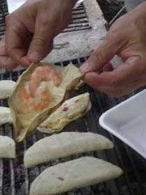 La Cocina de Leslie: Quesadillas de Camaron {Grilled Shrimp Quesadillas}