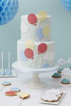 Peggy Porschen Cakes www.peggyporschen.com photography by Georgia Glynn Smith Balloon Birthday Cakes, Balloon Cake, 1st Birthday Cakes, Cupcakes, Cupcake Cakes, Peggy Porschen Cakes, Love Cake, Pretty Cakes, Creative Cakes