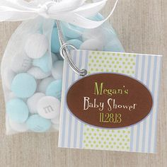 It's A Boy! Baby Shower Party Favor Tag