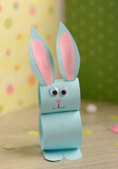 Kids Crafts Easy Easter - Paper Bunny Craft Easy Easter Craft for Easter Crafts for Kids - Fun DIY Ideas for Kid-Friendly Easter Activities - Country LivingPaper Bunny Craft – Easy Easter Craft for Kids There's just enough time left to ma Easter Crafts For Toddlers, Spring Crafts For Kids, Easter Projects, Bunny Crafts, Crafts For Kids To Make, Easter Crafts For Kids, Easter Ideas, Paper Easter Crafts, Craft Projects