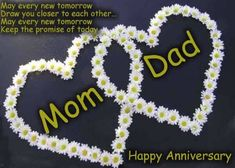 Happy Anniversary quotes for parents mom dad, belated anniversary wishes for parents, parents greetings, parents anniversary ecards, Beautiful parents picture quotes - best parents on this earth Parents Wedding Anniversary Quotes, Belated Anniversary Wishes, Anniversary Quotes For Parents, Happy Anniversary Messages, Anniversary Quotes Funny, Happy Marriage Anniversary, Happy Anniversary Quotes, Romantic Anniversary, Anniversary Pictures