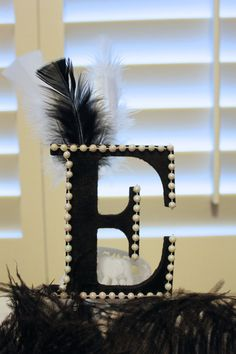 Hey, I found this really awesome Etsy listing at https://www.etsy.com/listing/237406391/gatsby-roaring-20s-letter-e-cake-topper