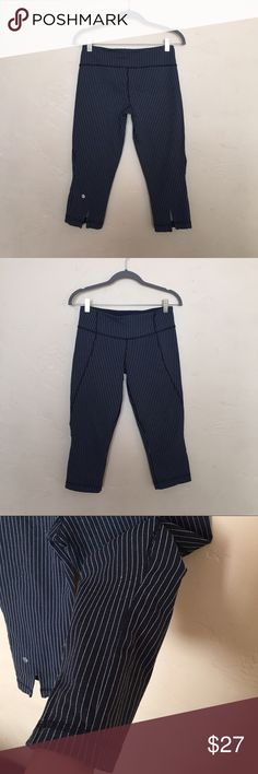 Lululemon Crops Gently used. Have been altered to be fitted. No pilling. Priced accordingly lululemon athletica Pants Ankle & Cropped