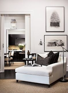 Black 'n White ... lovin' that comfy reading chair!!  ☆