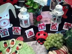 Food at a Ladybug Party #ladybug #partyfood